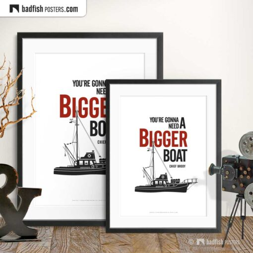 You're Gonna Need A Bigger Boat | Minimal Movie Poster | Gallery Image | © BadFishPosters.com