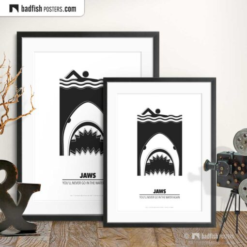 Jaws | Shark Attack | Minimal Movie Poster | Gallery Image | © BadFishPosters.com