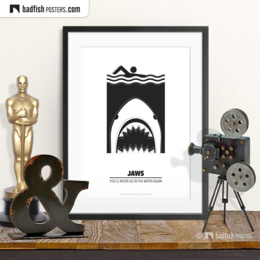 Jaws | Shark Attack | Minimal Movie Poster | © BadFishPosters.com