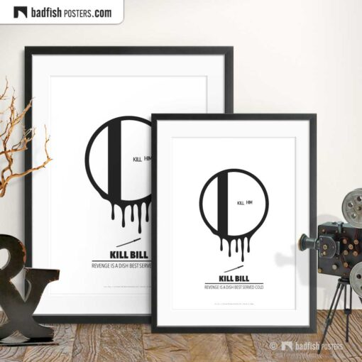Kill Bill | Vicious Circle | Minimal Movie Poster | Gallery Image | © BadFishPosters.com