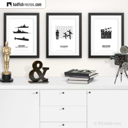 Life Is Beautiful   Minimal Movie Poster   Gallery Image   © BadFishPosters.com