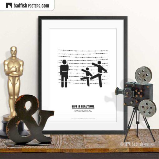 Life Is Beautiful   Minimal Movie Poster   © BadFishPosters.com