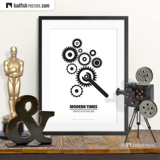 Modern Times | Minimal Movie Poster | © BadFishPosters.com