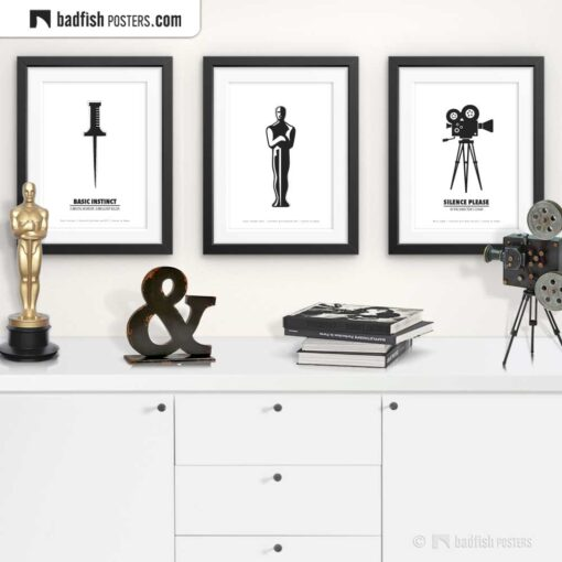 Movie Award | Minimal Movie Poster | Gallery Image | © BadFishPosters.com