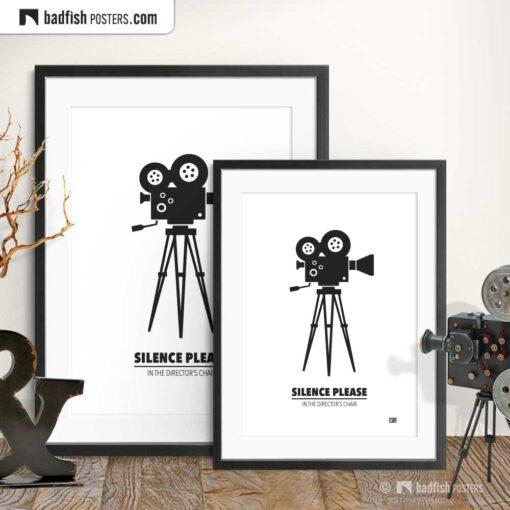 Movie Camera | Minimal Movie Poster | Gallery Image | © BadFishPosters.com