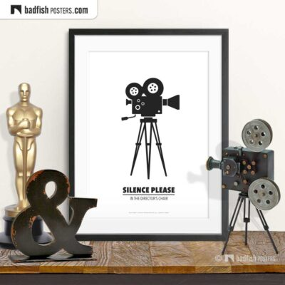 Movie Camera | Minimal Movie Poster | © BadFishPosters.com