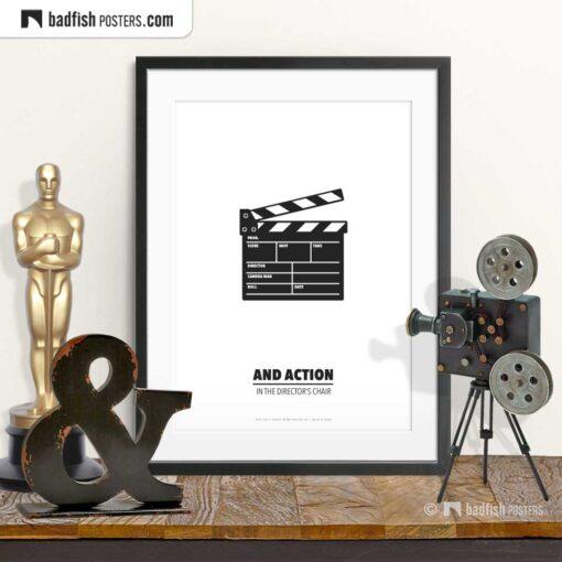 Movie Clap | Minimal Movie Poster | © BadFishPosters.com
