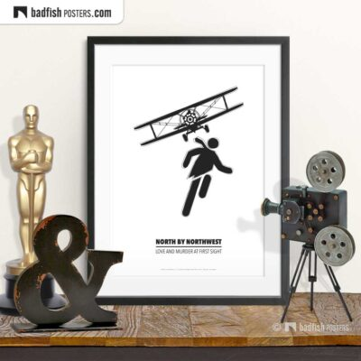 North By Northwest | Crop Duster | Minimal Movie Poster | © BadFishPosters.com