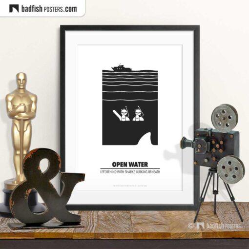 Open Water | Minimal Movie Poster | © BadFishPosters.com