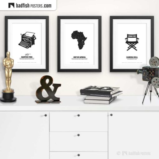 Out Of Africa | Minimal Movie Poster | Gallery Image | © BadFishPosters.com