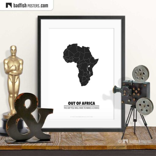 Out Of Africa | Minimal Movie Poster | © BadFishPosters.com