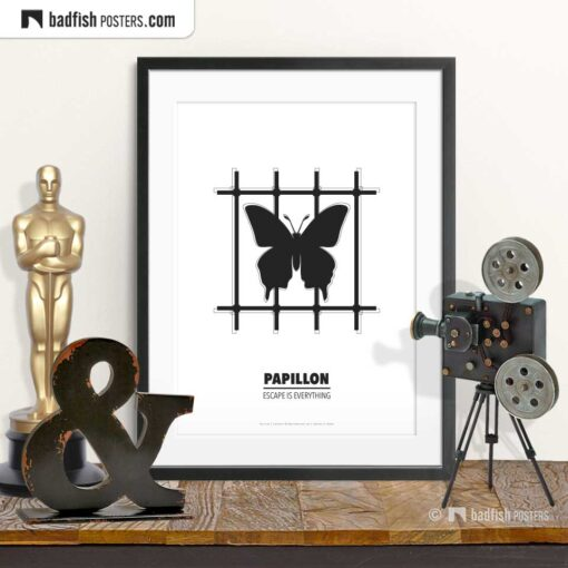 Papillon | Minimal Movie Poster | © BadFishPosters.com