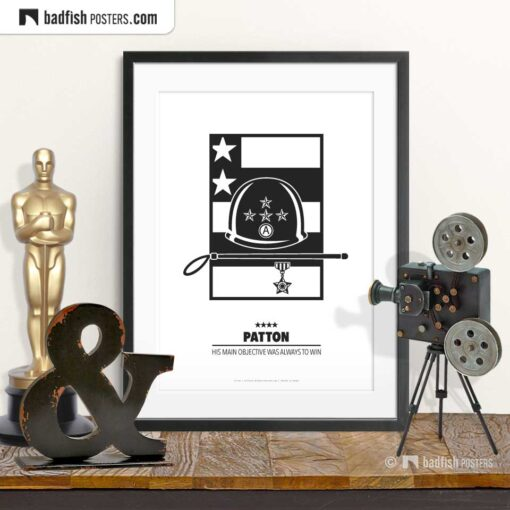 Patton | Minimal Movie Poster | © BadFishPosters.com
