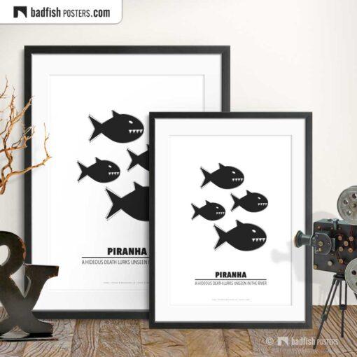 Piranha | Minimal Movie Poster | Gallery Image | © BadFishPosters.com