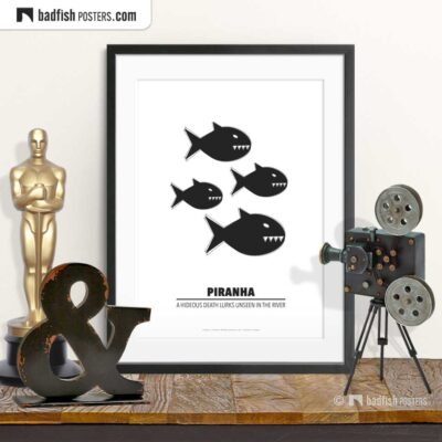 Piranha | Minimal Movie Poster | © BadFishPosters.com