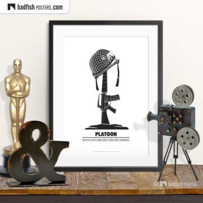 Platoon | Minimal Movie Poster | © BadFishPosters.com