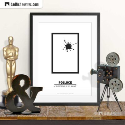 Pollock | Minimal Movie Poster | © BadFishPosters.com