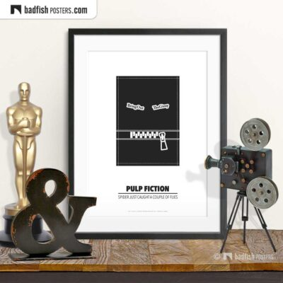 Pulp Fiction | Bring Out The Gimp | Minimal Movie Poster | © BadFishPosters.com