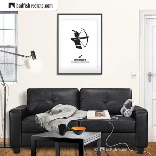Robin Hood | Minimal Movie Poster | Gallery Image | © BadFishPosters.com