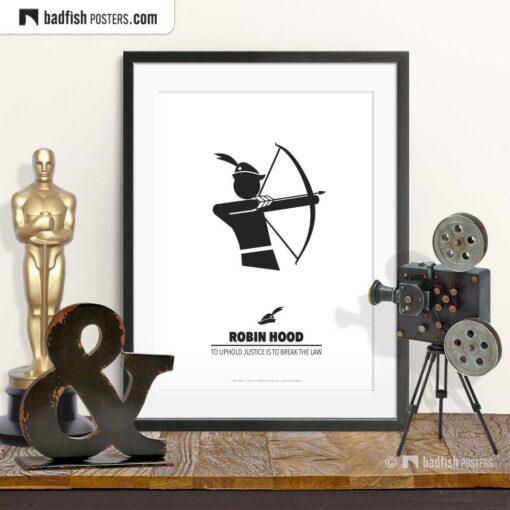 Robin Hood | Minimal Movie Poster | © BadFishPosters.com