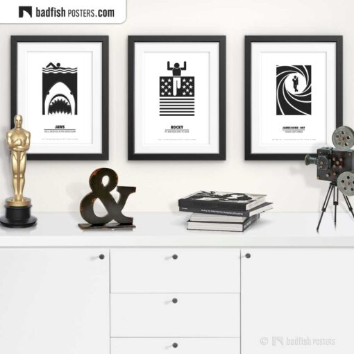Rocky | Minimal Movie Poster | Gallery Image | © BadFishPosters.com