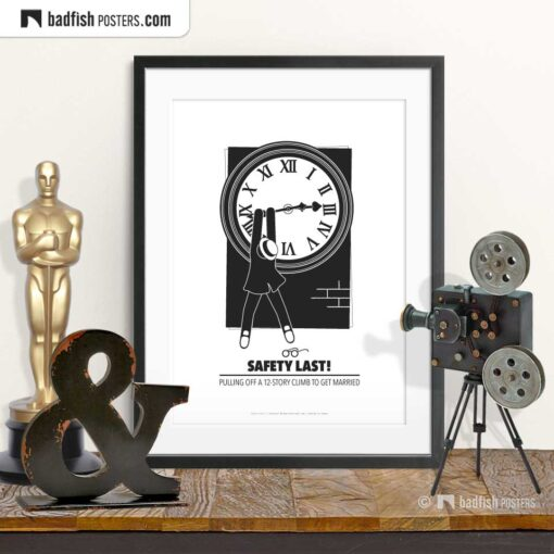Safety Last! | Harold Lloyd | Minimal Movie Poster | © BadFishPosters.com
