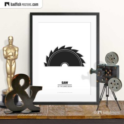 Saw | Circular Saw | Minimal Movie Poster | © BadFishPosters.com