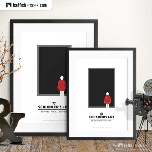 Schindler's List | Minimal Movie Poster | Gallery Image | © BadFishPosters.com