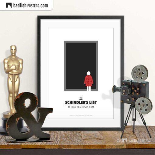 Schindler's List | Minimal Movie Poster | © BadFishPosters.com