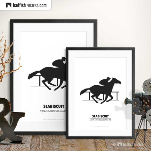 Seabiscuit | Minimal Movie Poster | Gallery Image | © BadFishPosters.com
