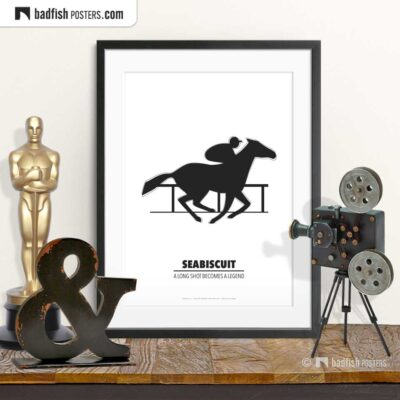 Seabiscuit | Minimal Movie Poster | © BadFishPosters.com
