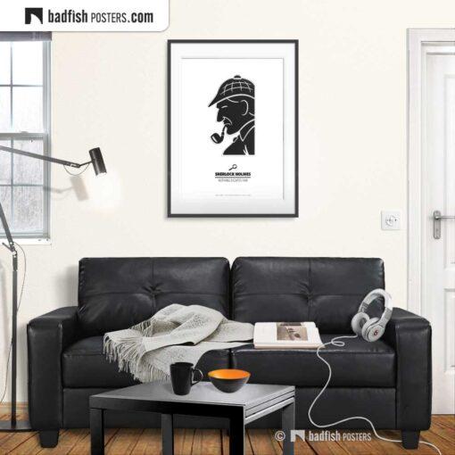 Sherlock Holmes | Minimal Movie Poster | Gallery Image | © BadFishPosters.com