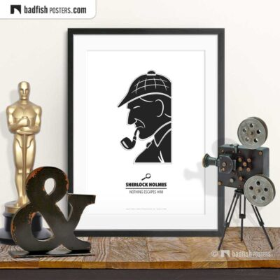 Sherlock Holmes | Minimal Movie Poster | © BadFishPosters.com