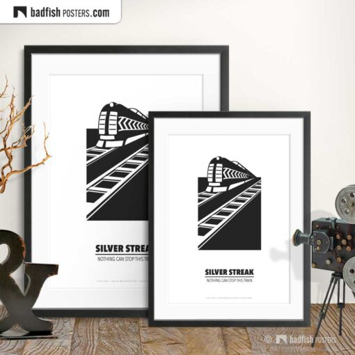 Silver Streak | Minimal Movie Poster | Gallery Image | © BadFishPosters.com