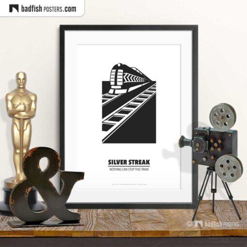 Silver Streak | Minimal Movie Poster | © BadFishPosters.com