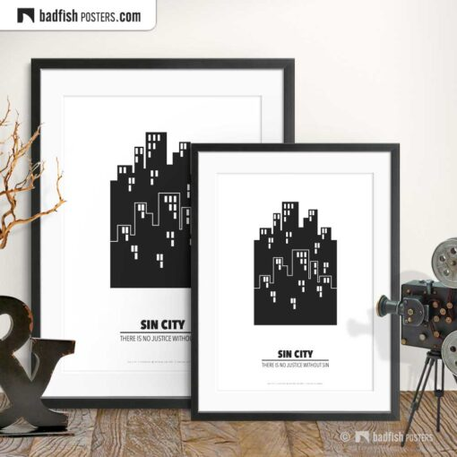 Sin City | Minimal Movie Poster | Gallery Image | © BadFishPosters.com