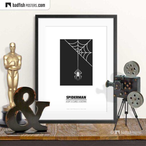 Spiderman | Minimal Movie Poster | © BadFishPosters.com