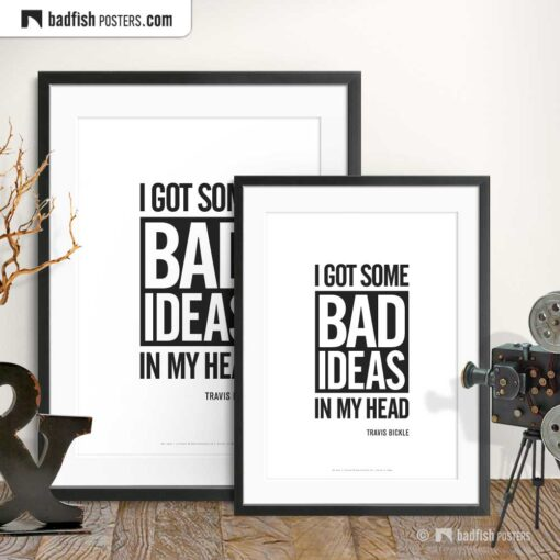 Bad Ideas | Typographic Movie Poster | Gallery Image | © BadFishPosters.com
