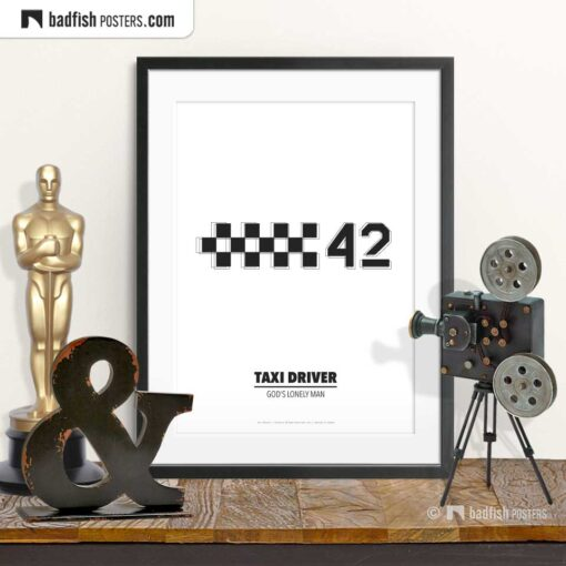 Taxi Driver | Cab Number 42 | Minimal Movie Poster | © BadFishPosters.com