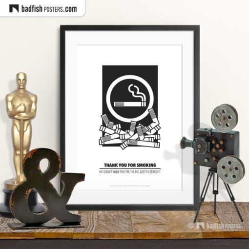 Thank You For Smoking   Minimal Movie Poster   © BadFishPosters.com