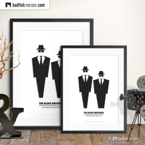 The Blues Brothers | Minimal Movie Poster | Gallery Image | © BadFishPosters.com