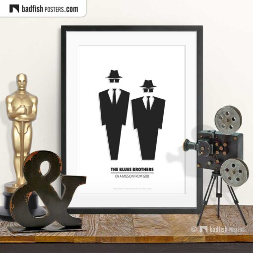 The Blues Brothers | Minimal Movie Poster | © BadFishPosters.com