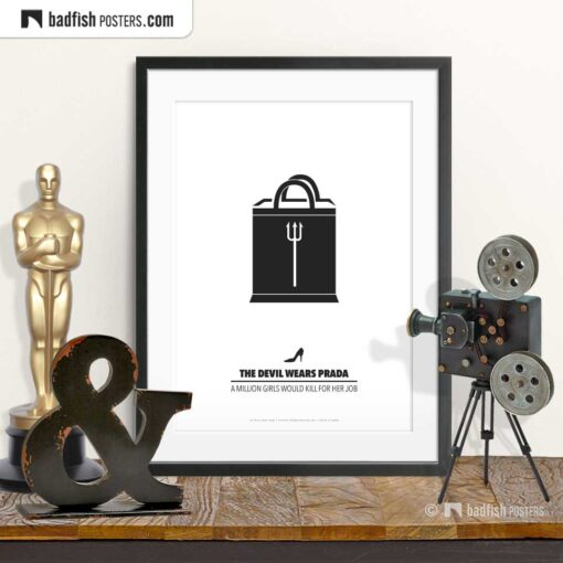 The Devil Wears Prada | Minimal Movie Poster | © BadFishPosters.com