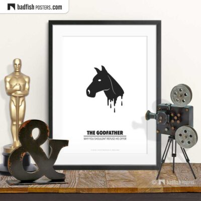The Godfather | Horse Head | Minimal Movie Poster | © BadFishPosters.com